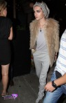 Bill Kaulitz of Tokio Hotel keeps a tight grip on his Marlboro's as he leaves the STK Steakhouse in West Hollywood
