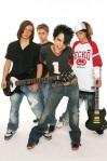 Tokio Hotel; Musikgruppe, Rockmusik; D - vlnr.: Georg Listing, Gustav Schaefer, Saenger Bill Kaulitz, Tom Kaulitz